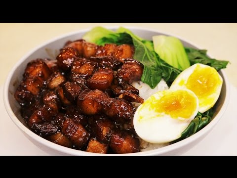 MELT IN YOUR MOUTH Chinese Braised Pork Belly Recipe (Lu Rou Fan / 卤肉饭)