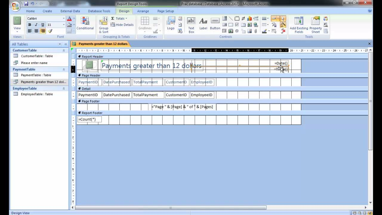 how to create a database program
