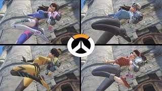Overwatch - The D.Va Video - All Highlight Intros with all Skins (2018)
