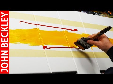 Abstract Painting EASY With Masking Tape | Groovin