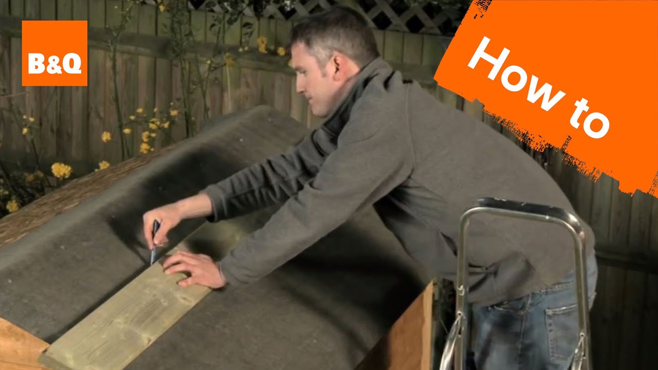 How To Felt A Shed Roof Youtube