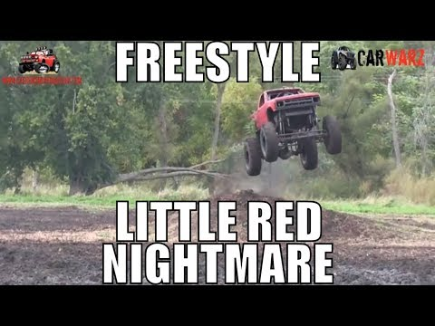 LITTLE RED NIGHTMARE Chevy Mega Truck Freestyle At Extreme ORV Expo 2018