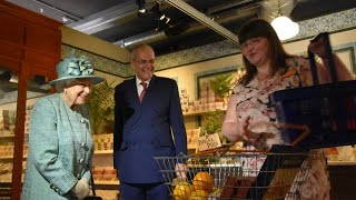 Queen Elizabeth Goes Back In Time Views 'Original' Sainsbury's 150th Anniversary Store!