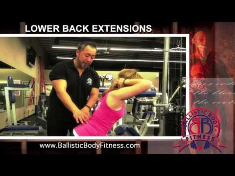 Lower Back Extensions for back - BBF 90 Day Fitness Challenge Instruction Video #44