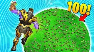 THANOS vs. 100 PLAYERS! - Fortnite Fails & Epic Wins #58 (Fortnite Funny Moments)