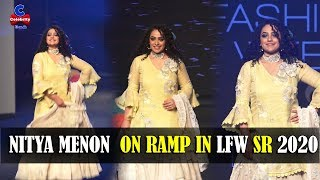 Nithya Menon ramp walk in Lakme Fashion Show 2020, looks s..
