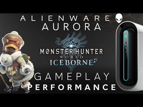 Aurora R9 - Monster Hunter World: Iceborne on the Alienware 34 Inch Curved  Monitor