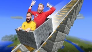 Building a Roller Coaster!   Minecraft Build Off [Ep 22]