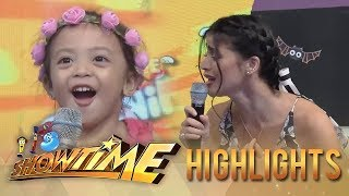 It's Showtime MiniMe 3: Aina is mesmerized by Anne's voice