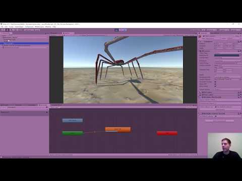 Unity game development - animator setup tutorial - Twitch stream