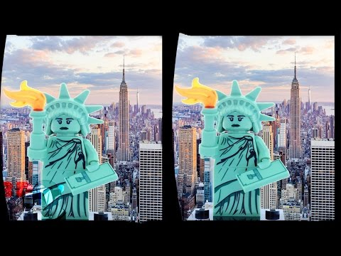 3D New York Compilation | 3D Side by Side SBS VR Active Passive