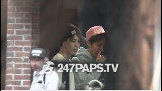 (EXCLUSIVE) J-Hope and Jimin from the Super Group BTS was scene Shopping in SOHO NYC 051719