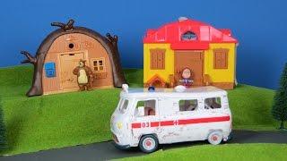 Mascha und der Bär Unboxing deutsch: Krankenwagen, Bärenhaus & Masha-Haus | Best of für Kinder