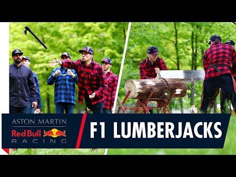 Formula 1 Lumberjacks | Max Pierre Daniil and Alex working the wood in Canada