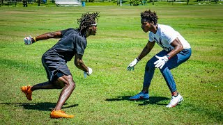 I DID 1ON1'S vs THE #1 RECEIVER IN THE COUNTRY!! (EXPOSED)