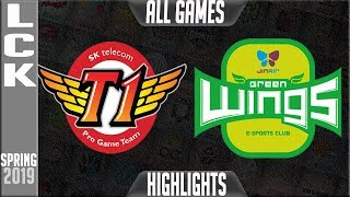 SKT vs JAG Highlights ALL GAMES | LCK Spring 2019 Week 1 Day 1 | SK Telecom T1 v Jin Air Greenwingsw