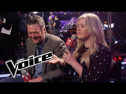 Blake Shelton & Kelly Clarkson Talk About Their Rivalry On The Voice, The Block Button & More