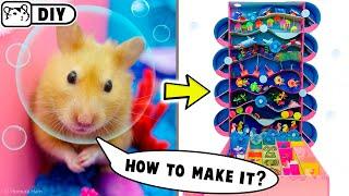 DIY - How to make Underwater Hamster Maze - Great Barrier Reef 🐟 Handcraft 🐟 Homura Ham