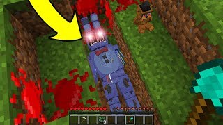 DESENTERREI OS ANIMATRONICS DEPOIS DE 1000 ANOS NO MINECRAFT!! (FIVE NIGHTS AT FREDDY'S)