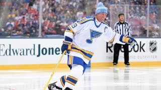 St. Louis Blues vs Chicago  Blackhawks Winter Classic Alumni Game Highlights