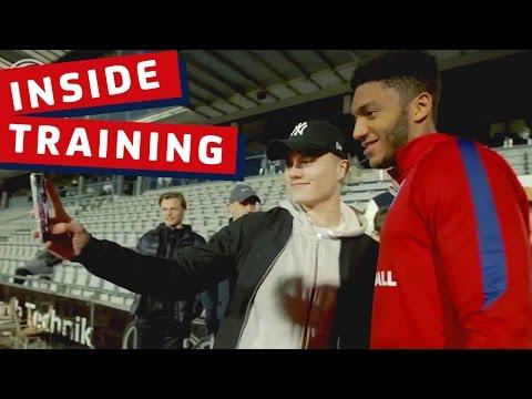 Gomez, Chalobah, Loftus-Cheek - Danish fans meet & greet with England Under 21s | Inside Training