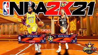 LeBron & Bronny James TAKE OVER the STAGE in NBA2K21