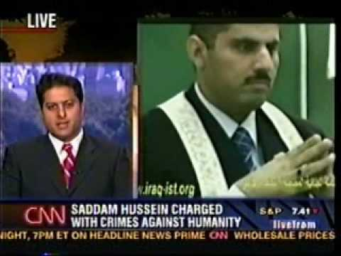 Rahul Manchanda on CNN (Trial of Saddam Hussein) - 3