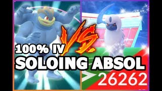 POKEMON GO ABSOL SOLO ATTEMPT | POWERING UP MY 100% IV MACHAMP