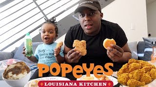 POPEYES CHICKEN MUKBANG | my 3 year old son said its time for me to get a girlfriend . . .