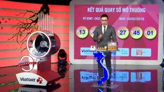 Ngày 04/02/2018 - Quay Thưởng Kết Quả Xổ Số Tự Chọn MEGA 6/45 – VIETLOTT