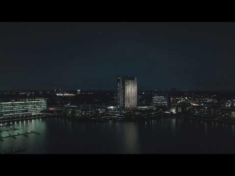 Fortumin torni Suomi100-juhlavalaistuksessa
