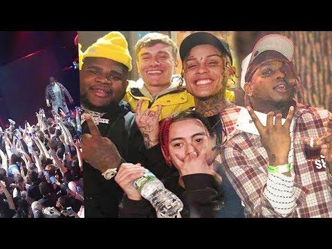 Lil Skies SURPRISES Crowd with Ski Mask The Slump God! (INSANE LIVE FOOTAGE)
