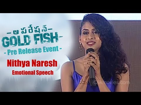 Nithya Naresh Emotional Speech
