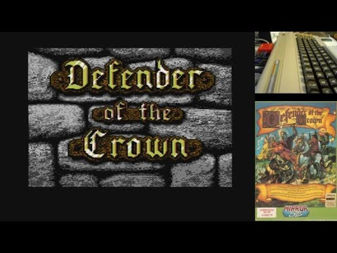 Defender Of The Crown - Serie de Juegos Épicos en Commodore 64 real