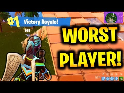 WORST PLAYER 1v1 WIN!!! (Fortnite Battle Royale Gameplay)