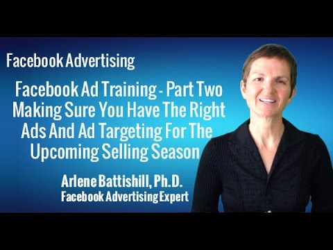 FACEBOOK ADVERTISING TRAINING   PART TWO   MAKING SURE YOU HAVE THE RIGHT ADS AND AD TARGETING FOR T