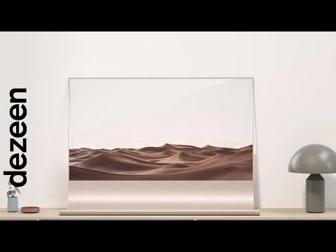 Richard Bone and Jisu Yun design transparent OLED television that can be used as a shelf   Dezeen