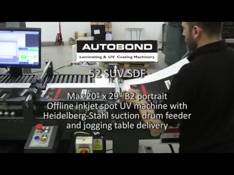 Autobond 52 SUV SDF - offline spot UV - on test for Iraqi customer