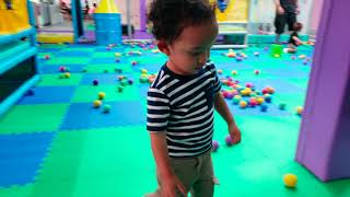 Indoor playground family fun for kids with balls at Hooray Indoor Playground