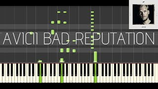 Avicii - Bad Reputation feat. Joe Janiak (Piano Tutorial & Cover)