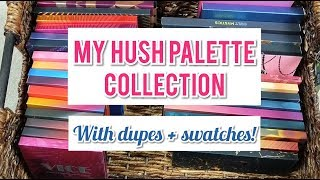 SHOP HUSH PALETTE COLLECTION + DUPES | Bad Habit Beauty, Face Candy,