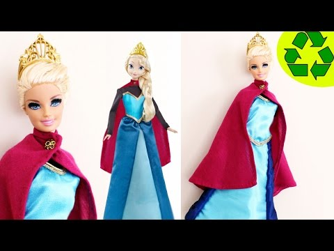 How to make a coronation dress for your Elsa or Barbie doll
