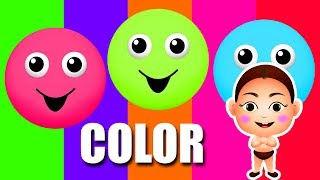 Little Baby Fun Learning Colors for Children with Bowling Pins Tumbling Toy Set Play 3D Kids