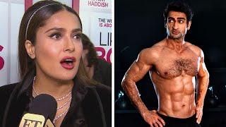 Watch Salma Hayek's HILARIOUS Reaction to 'Eternals' Co-Star Kumail Nanjiani's Body Transformation