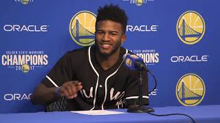 Jordan Bell's Flashback to Kerr yelling led to monster chase down block