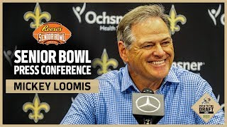 Saints GM Mickey Loomis 2020 Senior Bowl Interview   New Orleans Saints