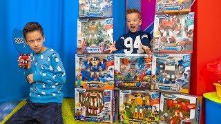 Давид в ШОКЕ! Игрушки Все ПРОПАЛИ! Kids playing in toy TOBOTs