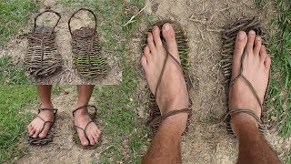 Primitive Technology: Make Sandals from Vine
