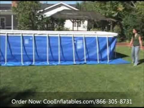 Intex Pool Set Up 12x24 Part 1 Videomoviles Com