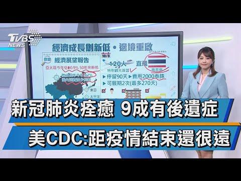 新冠肺炎痊癒 9成有後遺症 美CDC:距疫情結束還很遠